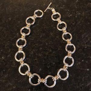 Lauren Ralph Lauren Silver & Gold Link Necklace